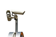Isolated security camera Royalty Free Stock Image