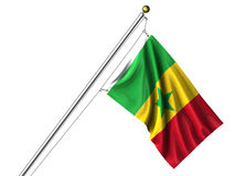 Isolated Senegalese Flag Royalty Free Stock Photos