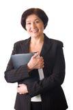 Isolated senior woman Stock Photography