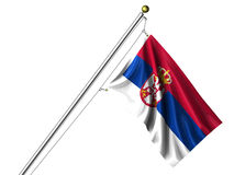 Isolated Serbian Flag Royalty Free Stock Photography