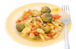 Isolated served up traditional vegetable ragout Royalty Free Stock Photos