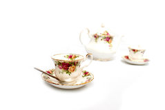 Isolated set of bone china Royalty Free Stock Image