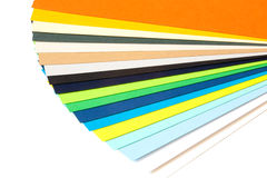 Isolated set of colored paper white background Stock Images