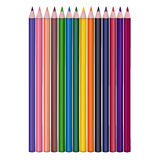 Isolated set of colored pencils on white background Stock Image
