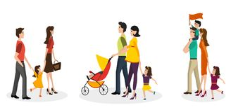 Isolated set of families Stock Photography