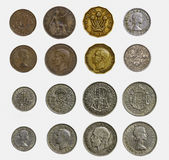 Isolated Set of Pre-Decimal English Coins (Close Up and Detailed Stock Photos