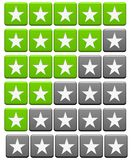 Set of green grey Review Buttons vector illustration