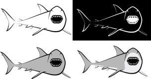 Shark. Isolated shark - clip art illustration and line art Royalty Free Stock Photo