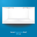 Isolated shelf for product presentation with light Royalty Free Stock Photography