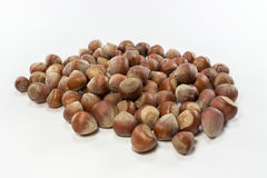 Isolated shelled nuts. Shelled nuts on white background Royalty Free Stock Image