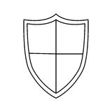 Isolated shield design Stock Images