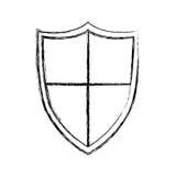 Isolated shield design Stock Photos
