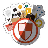 Isolated shield design Royalty Free Stock Photography