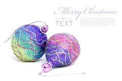Isolated shiny pink Christmas ball Stock Photo
