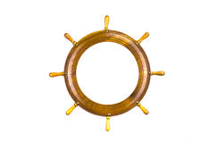 Isolated ship steering wheels art frame Stock Photo