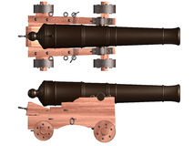 Isolated Ships Cannon Stock Photography