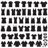 Isolated shirts and blouses vector illustration