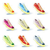 Isolated shoes set Stock Photos