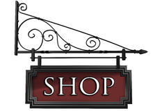 Isolated shop sign royalty free illustration