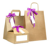 Isolated shopping bags Royalty Free Stock Photos