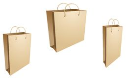 Isolated shopping bags in vector stock photography