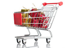 Isolated Shopping Cart Royalty Free Stock Images