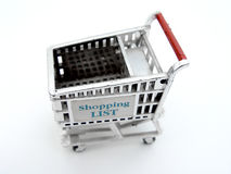 Isolated Shopping Cart Royalty Free Stock Photos