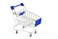 Isolated shopping cart Stock Images