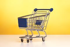 Isolated shopping trolley Royalty Free Stock Image