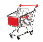 Isolated shopping trolley Royalty Free Stock Images