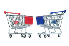 Isolated shopping trolley Stock Image