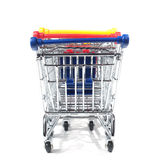 Isolated shopping trolley Stock Photo