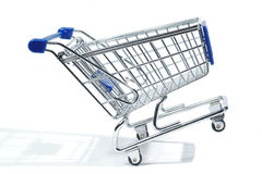 Isolated shopping trolley Stock Images