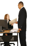 Isolated Shot Of Business Team Working Stock Image