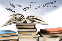 Words Jump Off the Page Royalty Free Stock Photo