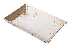 Empty wooden oyster crate Royalty Free Stock Images