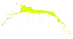 Isolated shot of green paint splash. On white background royalty free stock photography