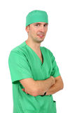 Isolated shot of male doctor on white background Royalty Free Stock Images