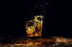 Free Isolated Shot Of Whiskey With Splash On Black Background Royalty Free Stock Photography - 150883467