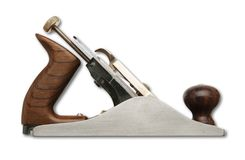 An isolated shot of a precision carpentry Jack Plane stock photo