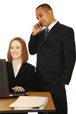 Isolated Shot Of Two Business People Royalty Free Stock Photos