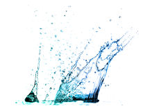 Isolated shot of water splashing Royalty Free Stock Images