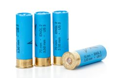 Isolated shotgun shells Royalty Free Stock Photography