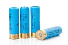 Isolated shotgun shells Royalty Free Stock Photography