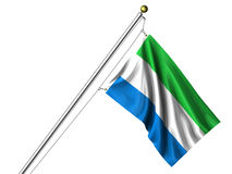 Isolated Sierra Leonean Flag Stock Photos