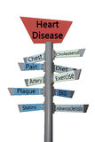 Isolated Sign with Heart Disease Terms Royalty Free Stock Images