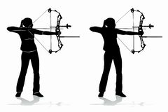 Silhouette of a archer , vector draw vector illustration