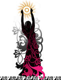 Isolated silhouette of a dancer Royalty Free Stock Photos