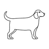 Isolated and silhouette dog design Royalty Free Stock Photos