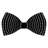 Hipster bowtie silhouette. Isolated silhouette of a hipster bowtie, Vector illustration Stock Photo